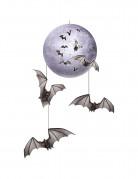 Suspension lune & chauve-souris Halloween