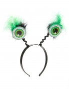 Serre tête globes oculaires verts Halloween