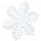 4 Décorations en plastique flocon de neige 15 cm