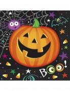 16 Serviettes en papier Petite Citrouille Halloween 33 x 33 cm