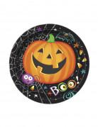 8 Petites assiettes en carton Petite Citrouille Halloween 18 cm