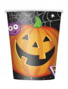 8 Gobelets en carton Petite Citrouille Halloween 255 ml