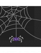 16 Serviettes en papier Toile d'araignée 33 x 33 cm
