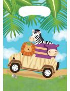 8 Sacs cadeaux anniversaire Safari aventure