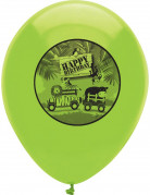 6 Ballons anniversaire Safari aventure 30 cm