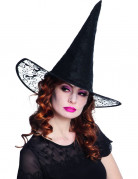 Chapeau sorcière dentelle adulte Halloween