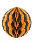 Boule en papier noire et orange Halloween