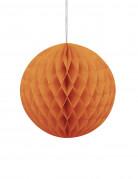 Boule en papier alvéolé Orange 20 cm