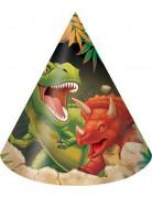 8 Chapeaux  de fête anniversaire Dinosaures