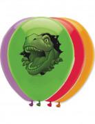 6 Ballons anniversaire Dinosaures