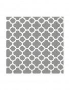 16 Petites Serviettes en papier Grafik Argenté 25 x 25 cm