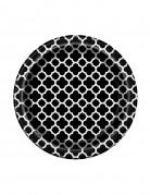 8 Petites assiettes en carton Grafik noir 18 cm
