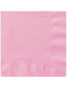 20 Serviettes en papier Rose clair 33 x 33 cm