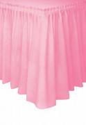 Jupe de table rose clair en plastique 73 x 426 cm
