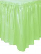 Jupe de table vert pomme en plastique 73 x 426 cm