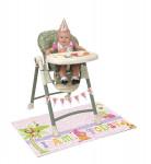 Kit de décoration chaise haute Jungle 1 an Fille
