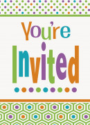 8 Cartes invitations Anniversaire Acidulé