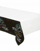 Nappe en plastique Confettis Happy Birthday 137 x 259 cm