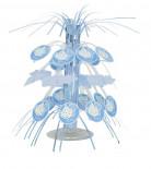 Centre de table cascade Cigogne bleue