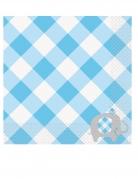 16 Serviettes en papier Elephant Bleu 33 x 33 cm