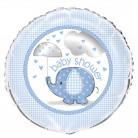 Ballon Aluminium Elephant Bleu 46 cm