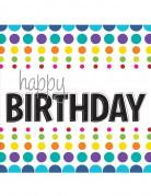 16 Serviettes en papier Happy Birthday 33 x 33 cm