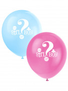 8 Ballons Imprimés Girl or Boy