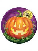 8 Assiettes Citrouilles Party Halloween 23 cm
