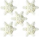 5 Petits Flocons de neige en sucre Noël 4 cm