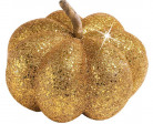 Décoration citrouille dorée 15 cm Halloween