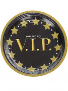 8 Assiettes carton VIP 23 cm