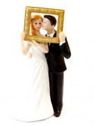 Couple de mariés en résine