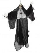 Décoration à suspendre squelette bonne sœur Halloween
