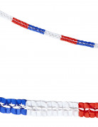2 Guirlandes papier tricolore supporter France 3 m