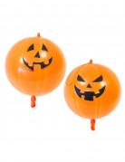 2 Ballons imprimés citrouille Halloween 44 cm