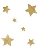 6 Décorations de table étoiles dorées