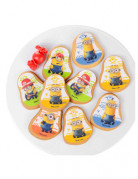 12 Décorations en sucre pour biscuits Minion™
