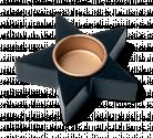 Bougeoir étoile noire en bois