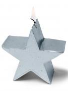 Bougie étoile argentée 7 cm