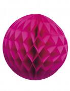 Boule papier alvéolée rose fuchsia 25 cm