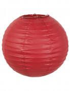 Lanterne japonaise en papier rouge 25 cm