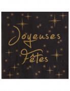20 Serviettes en papier Joyeuses fêtes 33 cm