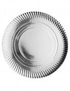 4 Sets de table argentés en carton 36 cm