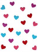 20 Confettis de table coeur feutrine Saint Valentin 2.5 cm