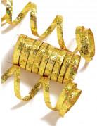 Rouleau de 10 serpentins dorés