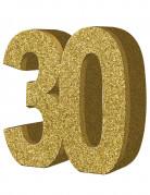 Décoration de table 30 ans Or 20 x 20 cm