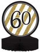Centre de table 60 ans Anniversaire Noir et Or