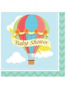 16 Serviettes Baby Shower Petite Montgolfière 33 x 33 cm