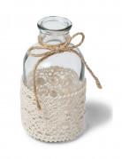 Petit vase en verre et dentelle 10 cm