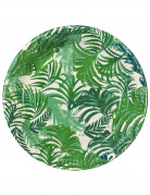 12 Assiettes en carton Tropical Jungle 23 cm